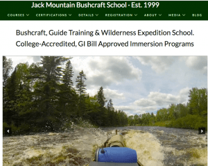 Jack Mountain bush craft courses