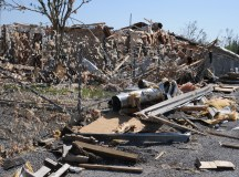Yazoo City, MS, April 29, 2010 -- This building was totally destroyed by the deadly tornado of April 24, 2010.  George Armstrong/FEMA