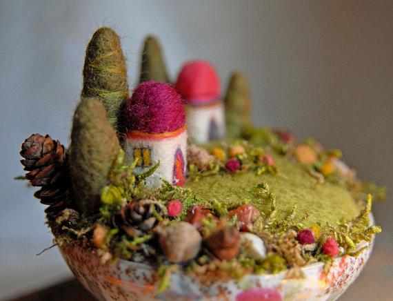 Waldorf Inspired Needle Felted Fairy Gardens LIVING FELT Blog