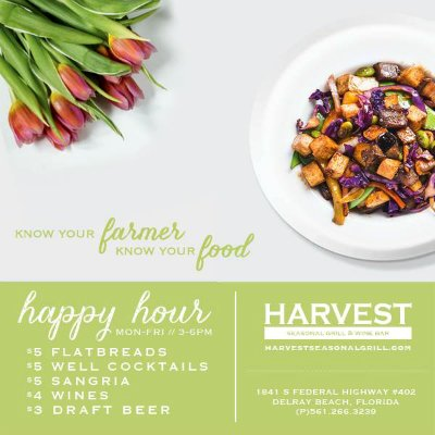 Harvest Seasonal Grill & Wine Bar - Happy Hour & Specials
