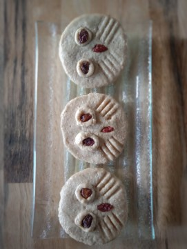 Hooter Owl Cookies (Oat and Cashew Based Cookies with Raisin Eyes)