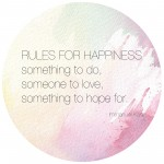 Thursday Thought: Rules for Happiness