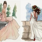 bridal portraits – illustrations to last a lifetime
