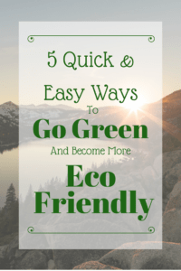 How to be eco friendly at home