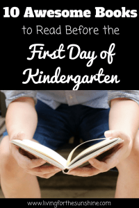 Great Books to Read Before the First Day of Kindergarten