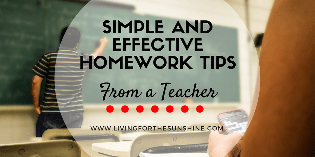 Simple & Effective Homework Tips from a Teacher