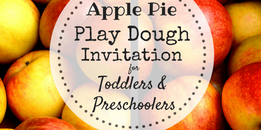apple pie play dough invitation
