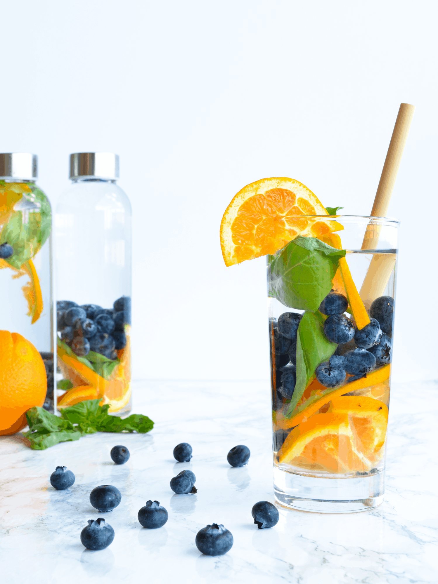 orange basil blueberry water