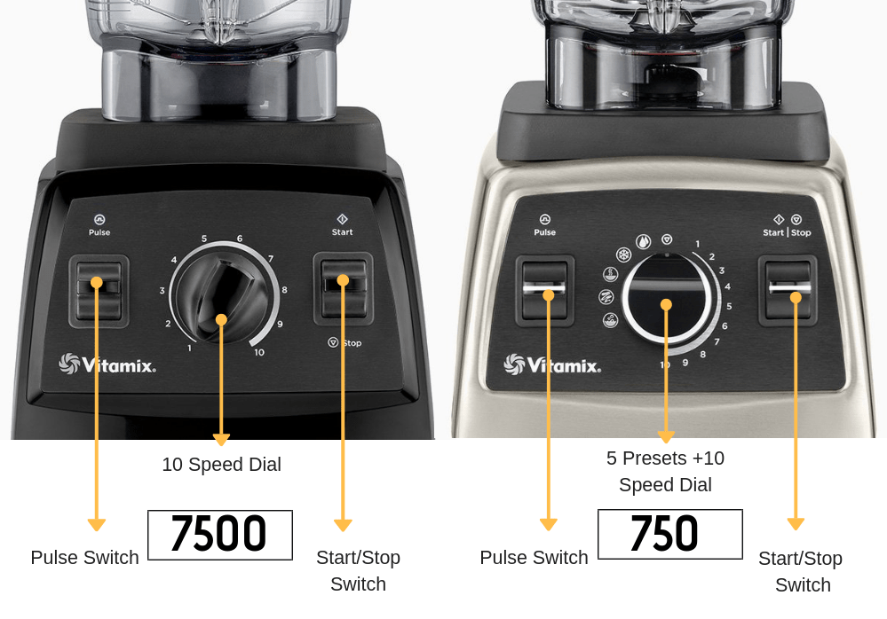vitamix 750 vs 7500 settings