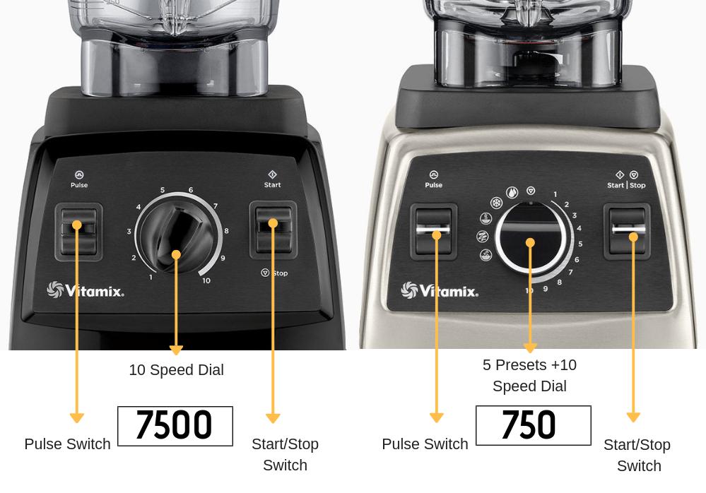 vitamix 750 vs 7500 settings