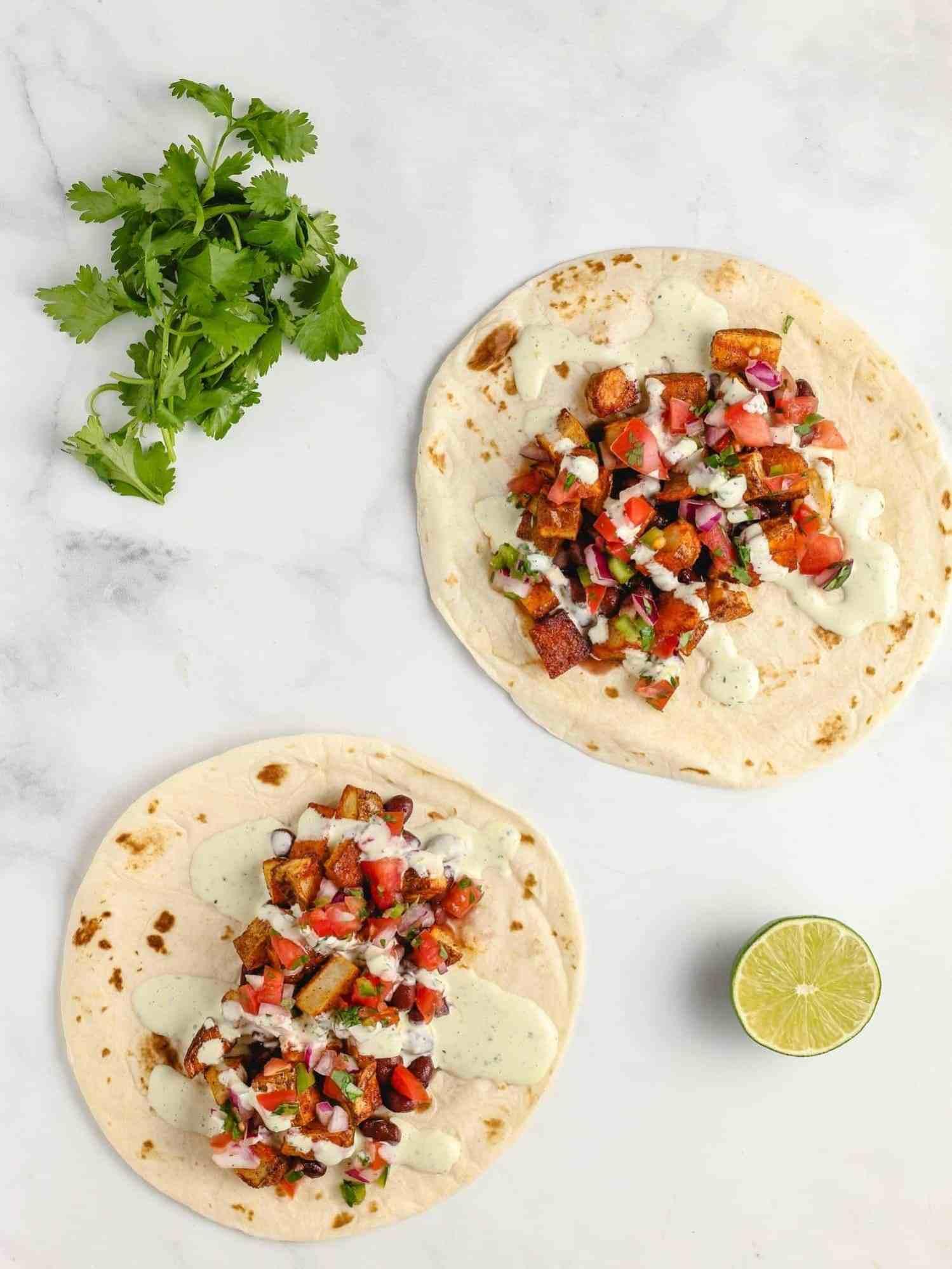 healthy potato tacos