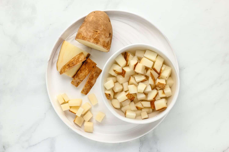 soak potatoes