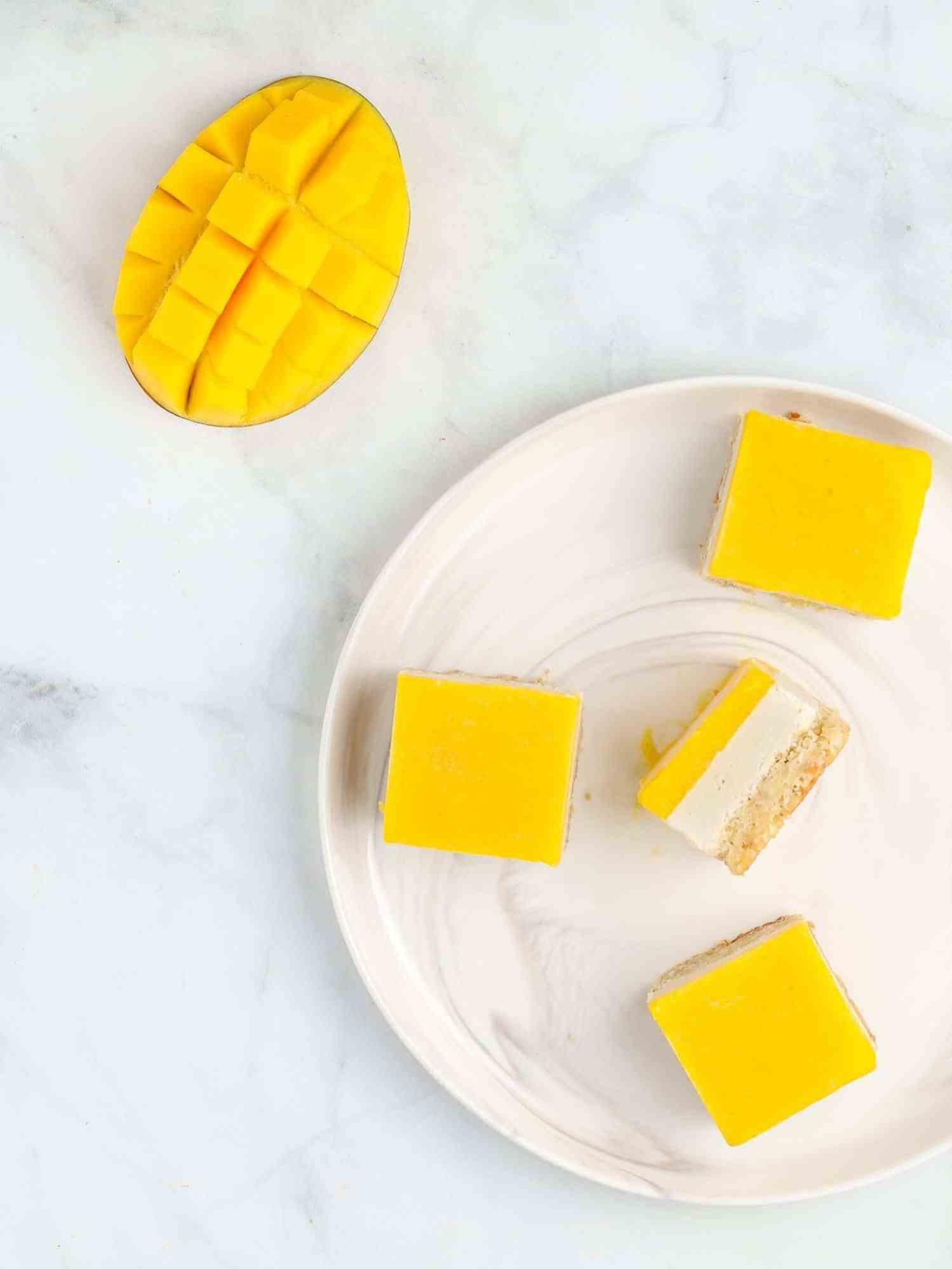 vegan mango bars