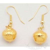 Acorn Earrings in 24k Gold