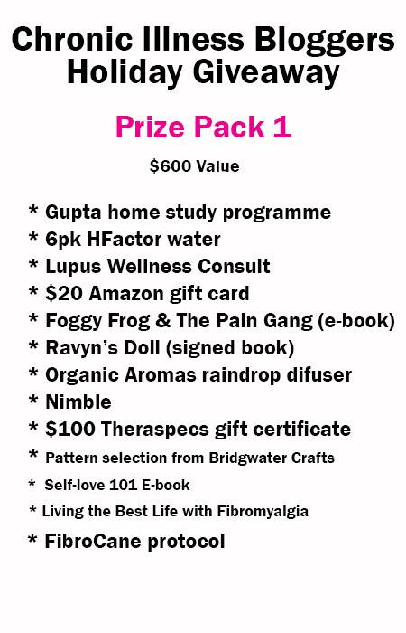 Enter to win one of 11 health prize packs! Each pack is worth $400+!!