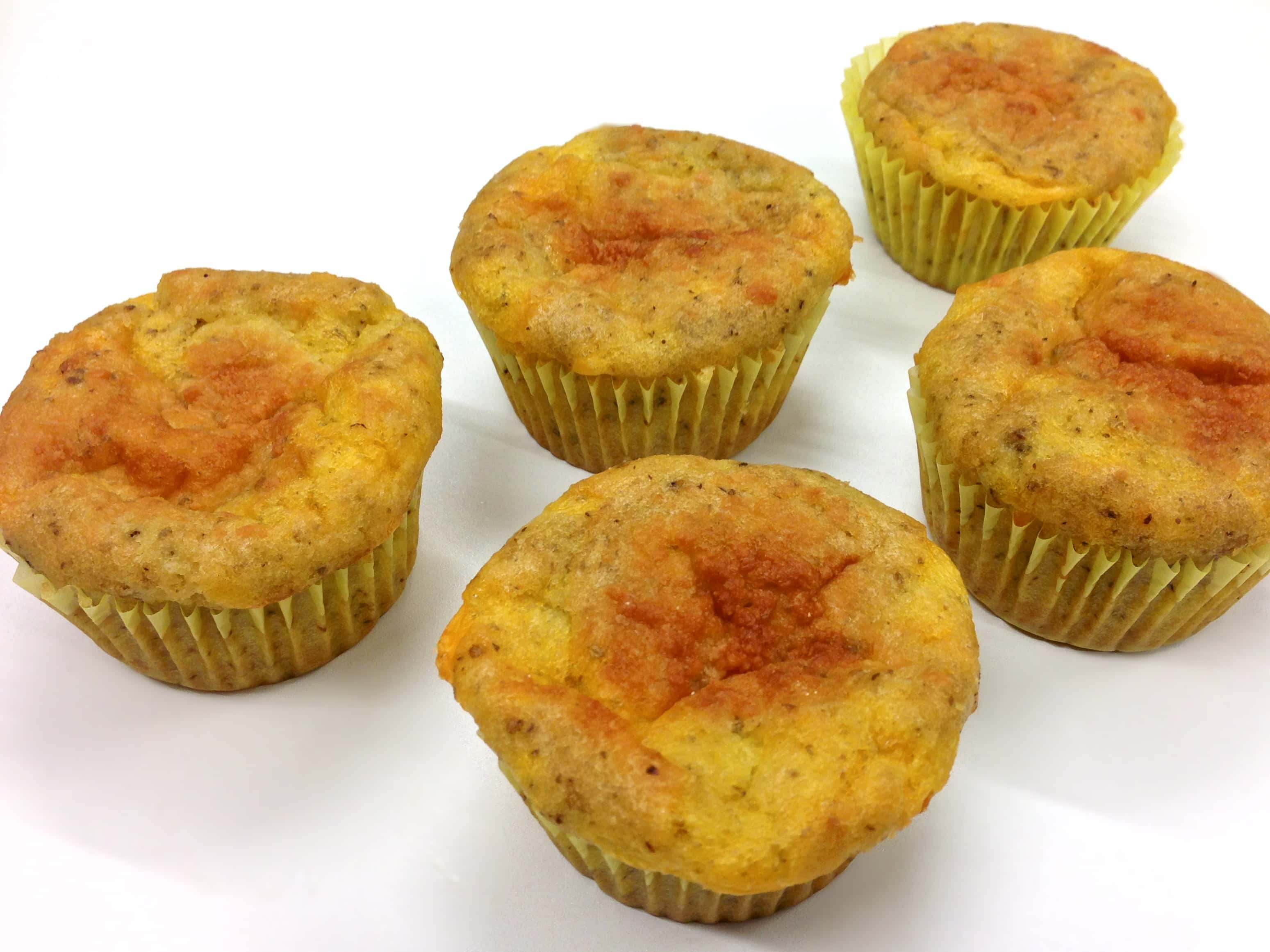 Grain Free Cheesy Oregano Muffin (Gluten Free, Paleo)