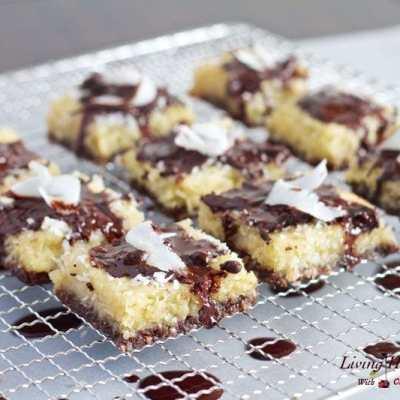 Paleo Coconut Brownie Bars