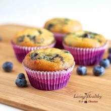 Paleo Coconut Flour Blueberry Muffin