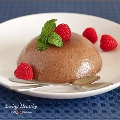 Chocolate Raspberry Panna Cotta
