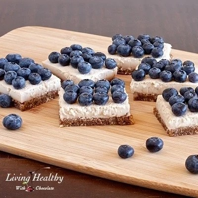Paleo Blueberry Coconut Cream Pie Squares