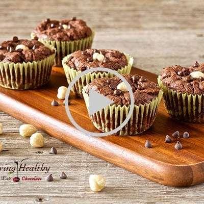 Paleo Flourless Chocolate Hazelnut Muffins
