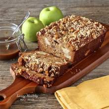 Paleo Carmel Apple Pie Cake Bread (gluten-free, grain-free, dairy-free, sugar-free, low carb)