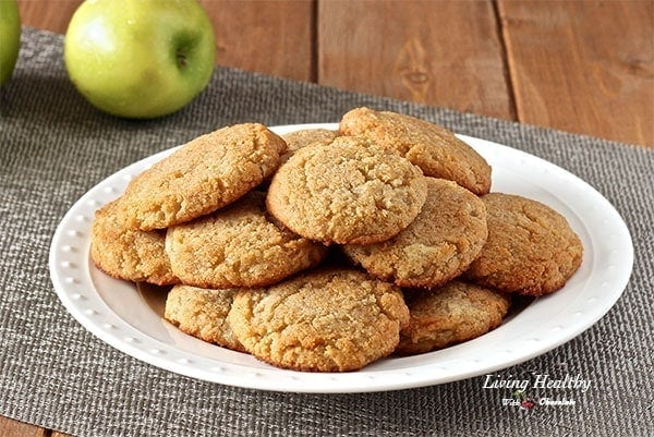 Apple Cinnamon Cookies (Paleo, Gluten-free, Vegan) by #LivingHealthyWithChocolate