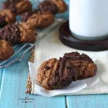 Two-toned Chewy Cookies (gluten-free, grain-free, dairy-free, Paleo) by #LivingHealthyWithChocolate