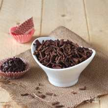 Homemade Chocolate Sprinkles (refined sugar-free, Paleo) - This healthier version of Chocolate Sprinkles is free of refined sugars, corn syrup, dairy, soy, and other chemicals. You need this recipe! So easy to make! Only 4 ingredients! By #LivingHealthyWithChocolate