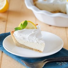 Paleo Lemon Cream Pie (gluten-free, grain-free, egg-free, dairy-free) by #LivingHealthyWithChocolate