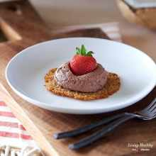 Coconut Tuiles with Fresh Strawberries and Chocolate Whipping Cream (Paleo, Gluten-free)