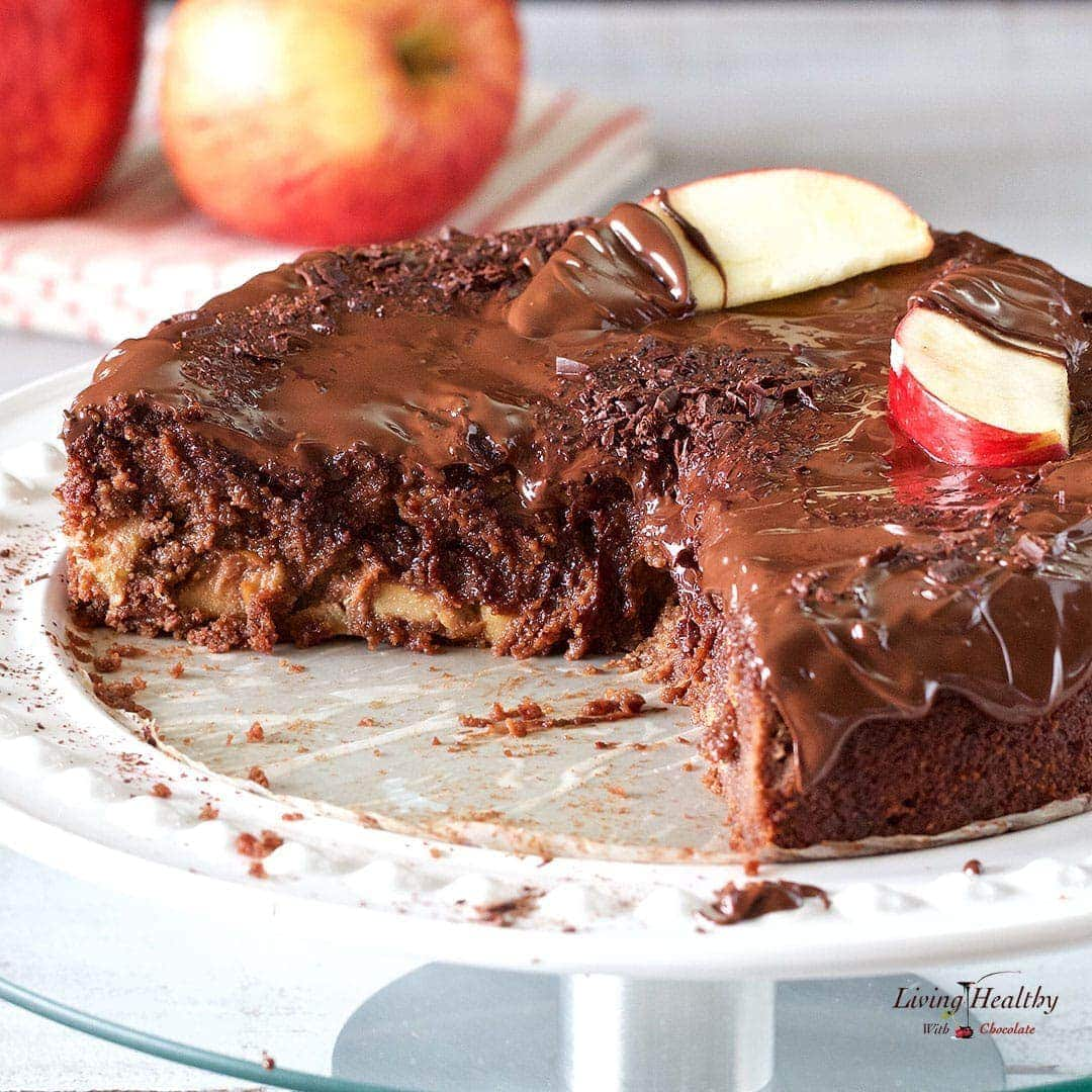 Apple Chocolate Cake Recipe glutengraindairyfree Paleo