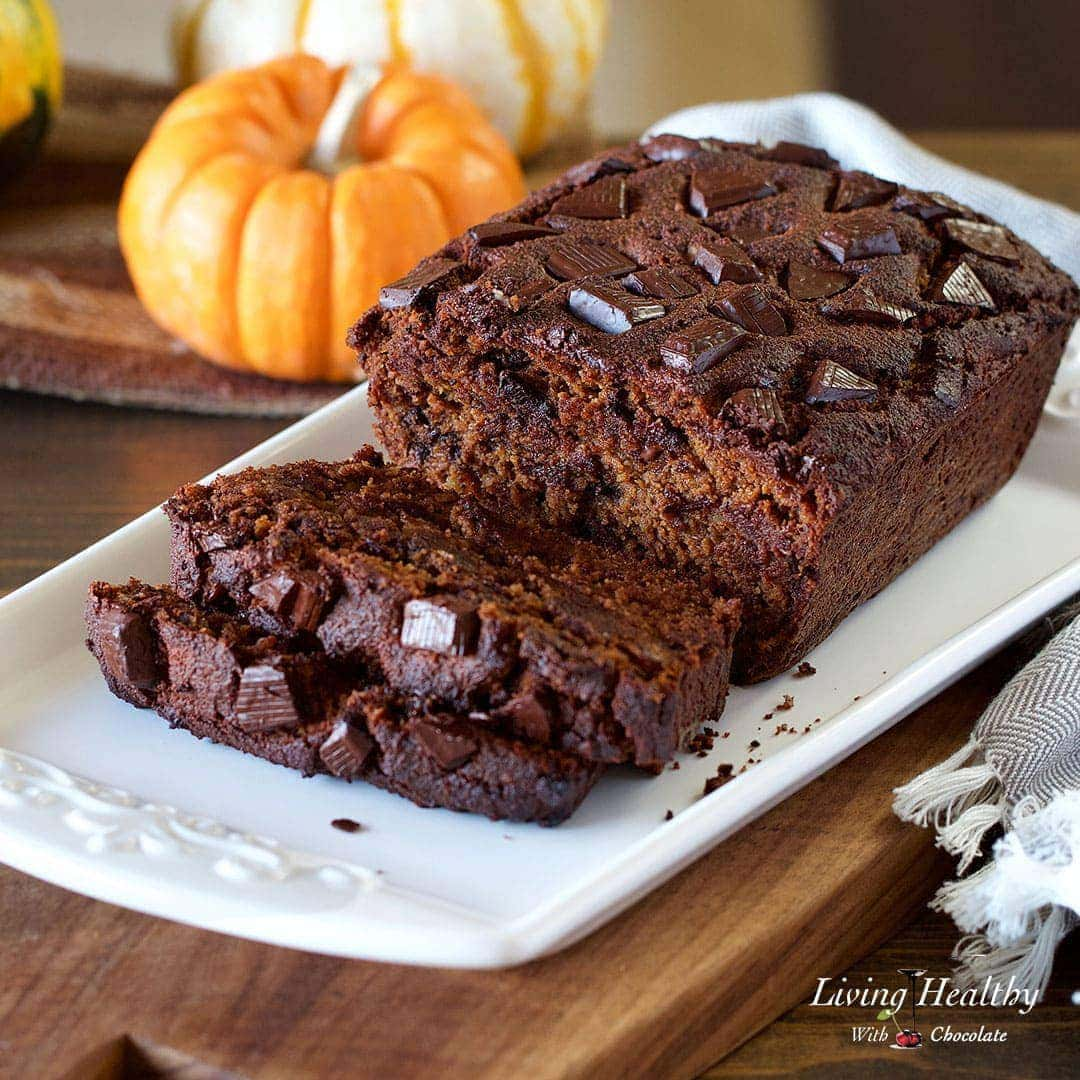 Moist Chocolate Pumpkin Bread Paleo Gluten Free Low Carb
