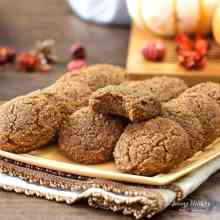 Soft Pumpkin Cookies Recipe (gluten-free, grain-free, Paleo) by #LivingHealthyWithChocolate
