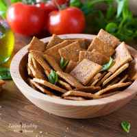 How to make Crackers with Cassava flour - Pizza Crackers (Vegan, Paleo)