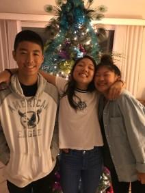 Steven, Sammie, Lauren christmas