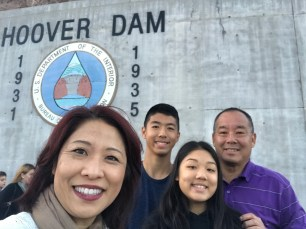 Chung family at Hoover Dam