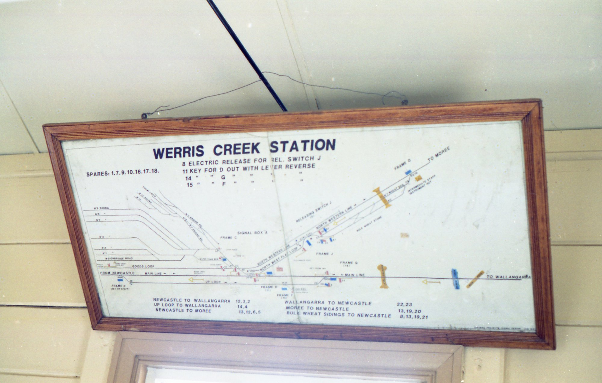 hight resolution of the track diagram in the signalbox at werris creek nsw living histories