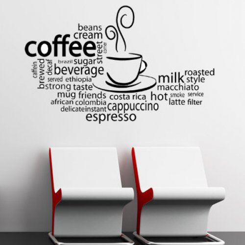Creative Wall Designs for Coffee ShopsCafe
