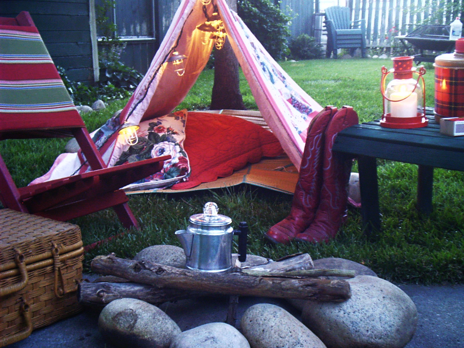 Holiday Ideas  Backyard Camping
