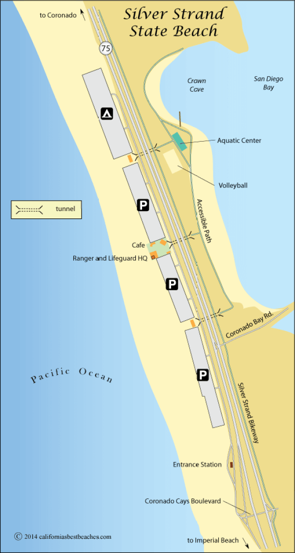 Silver Strand State Beach map
