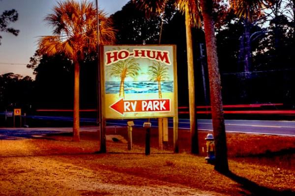 Ho Hum RV Park sign