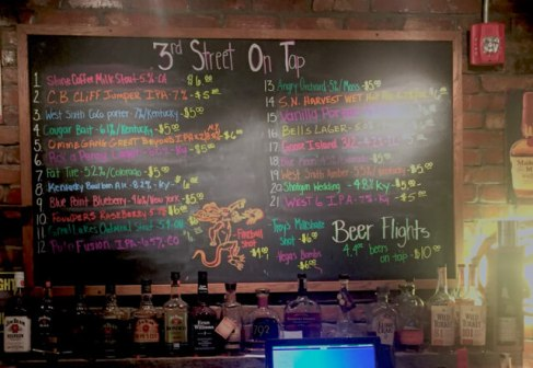 (Nice selection of local brew at 3rd Street Brewing)