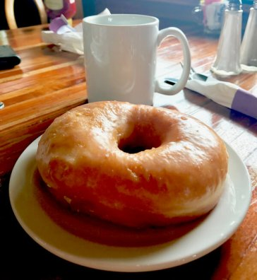Ridge Inn is famous for homemade donuts - only made on Friday and Saturday.