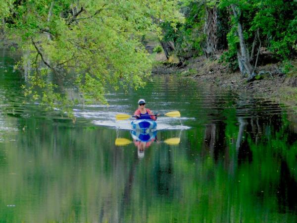 Disney's Fort Wilderness campground kayaking