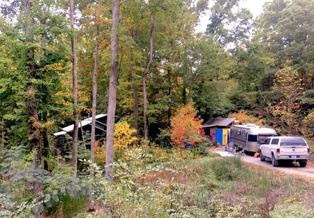 Carmen's sister's home in the Cherokee National Forrest