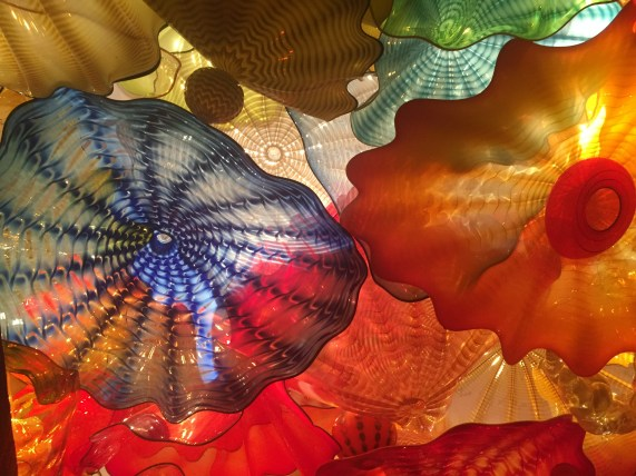 (Detail of a large Venetian glass ceiling at Maker's Mark)