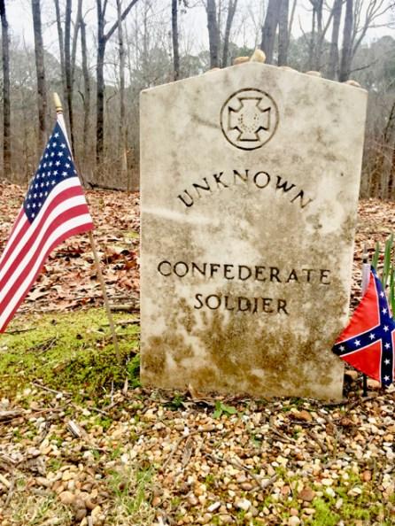 Unknown Confederate Soldier grave marker