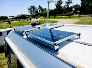 Two 100 watt panels on the front