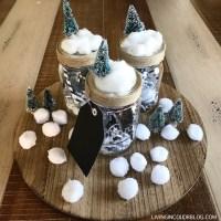 DIY Wintery Mason Jar Gift Card Holder + VIDEO TUTORIAL